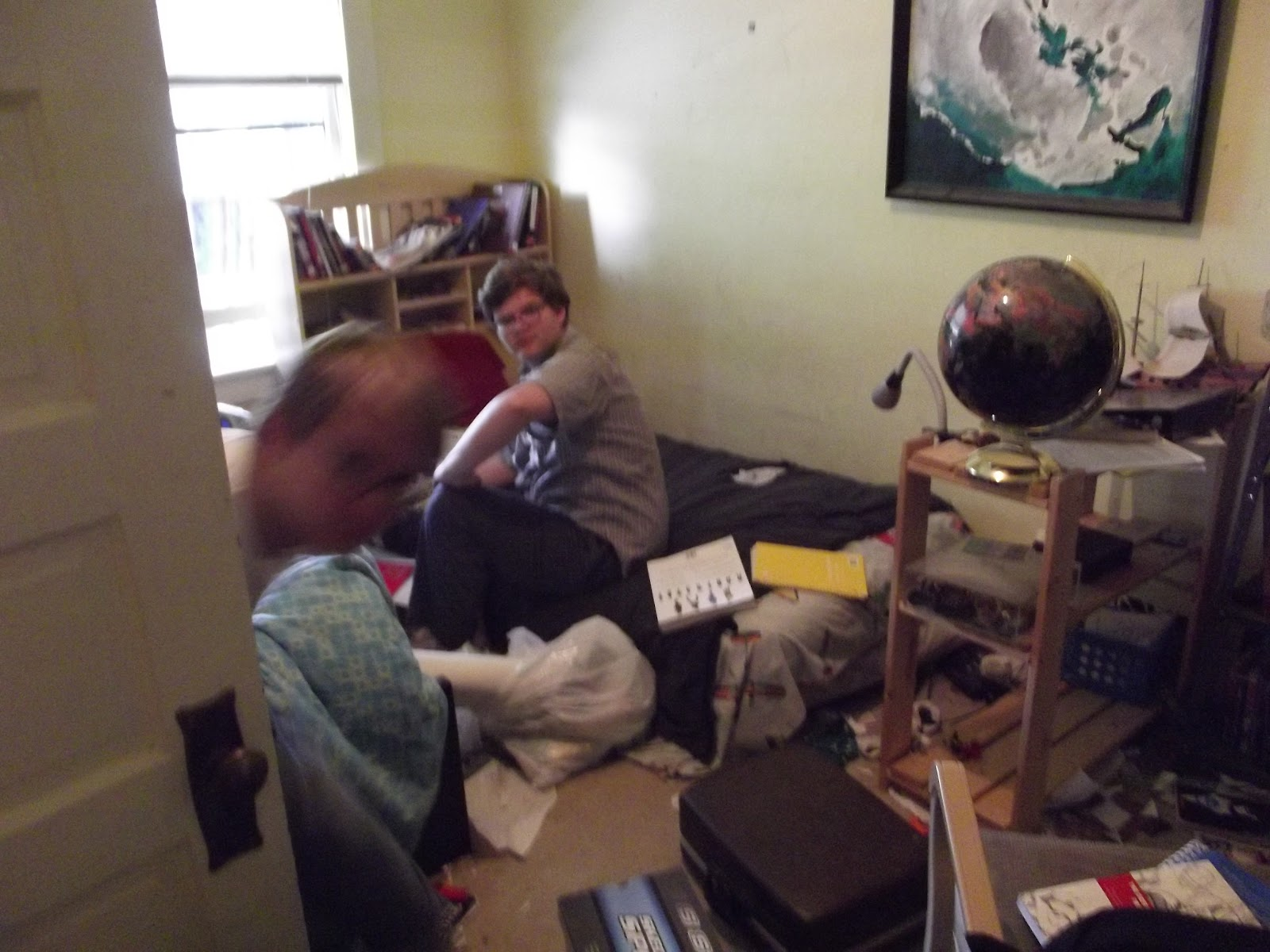 Teenage boy at the start of a decluttering journey