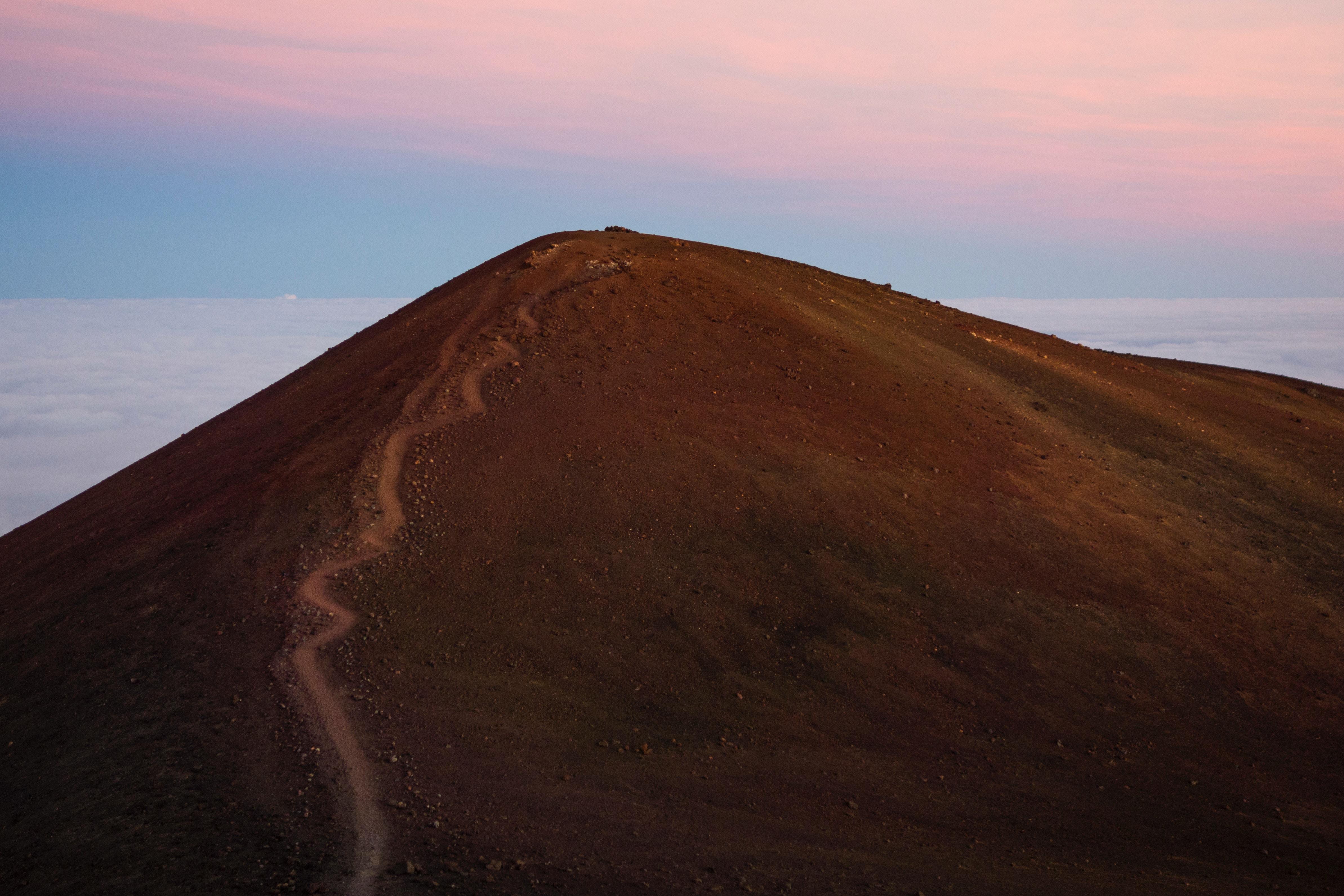 Walking trail up a hill