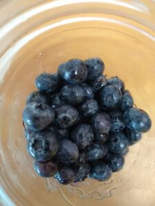 Blueberries in a jar